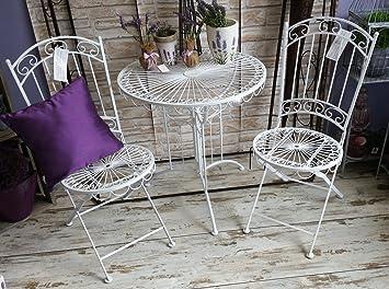 Amazon.de: Tisch + 2 Stühle *Nostalgie* Sitzgruppe Garnitur ...