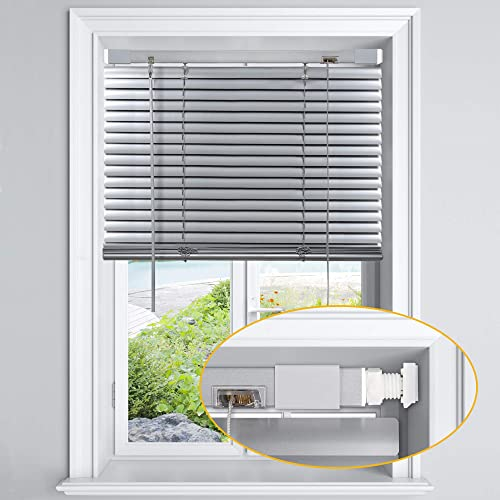 LazBlinds No Tools-No Drill 1″ Aluminum Horizontal Mini Blinds Shade