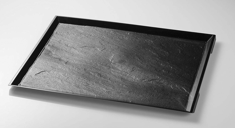 Bandeja de plástico imitación Pizarra 37x27x1 cm - Bandeja ...