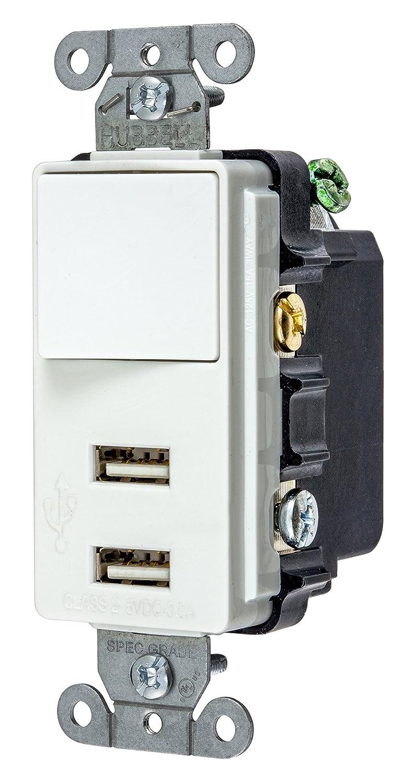Bryant Electric USBB102W 15 Amp 125V Decorator USB Switch ...