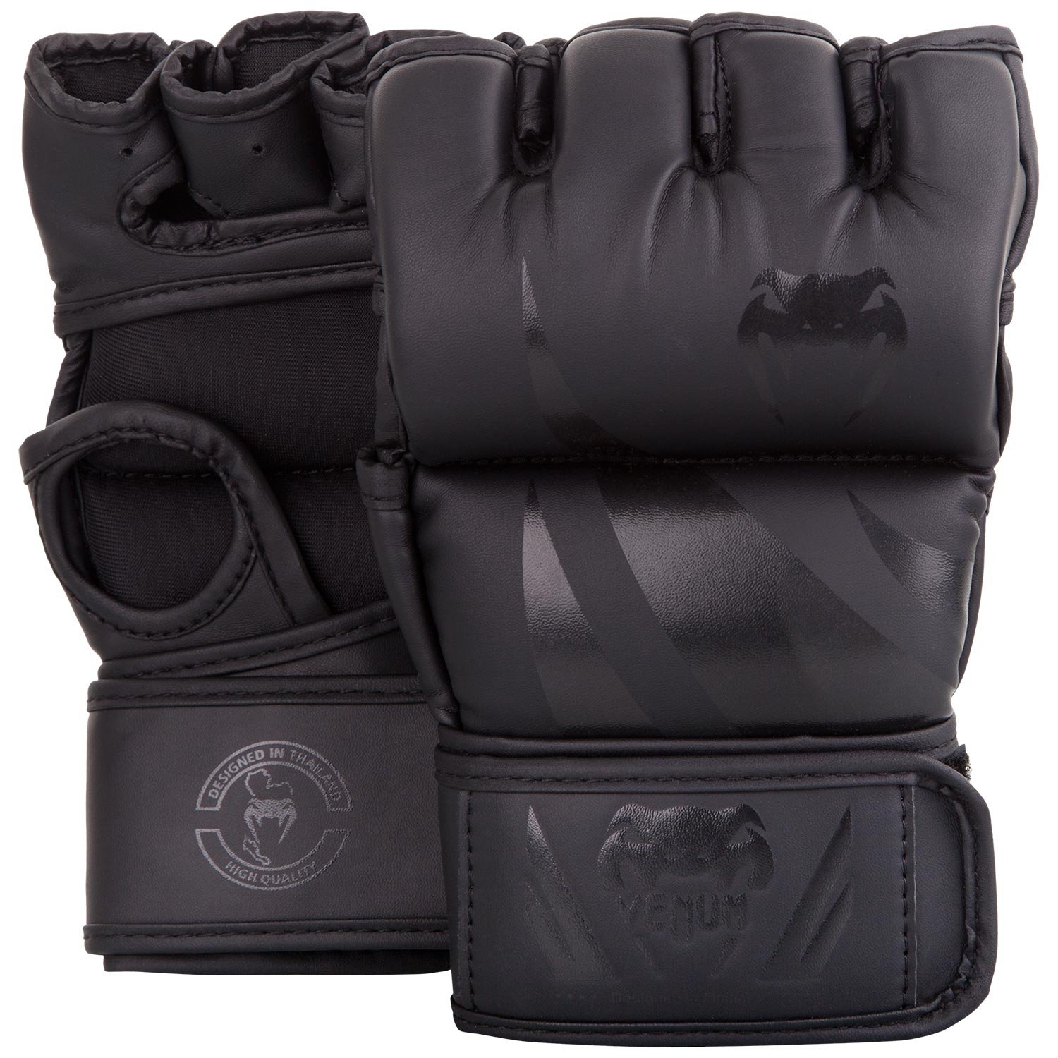Venum Challenger MMA Gloves - Without Thumb - L/XL, Black/Black, Large/X-Large by Venum