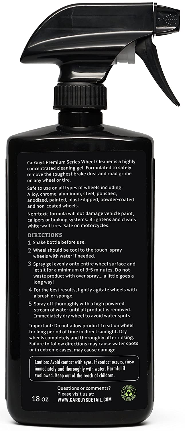 amazoncom best wheel and tire cleaner on amazon safe for all wheels and rims works on alloy chrome aluminum clearcoated painted polished and