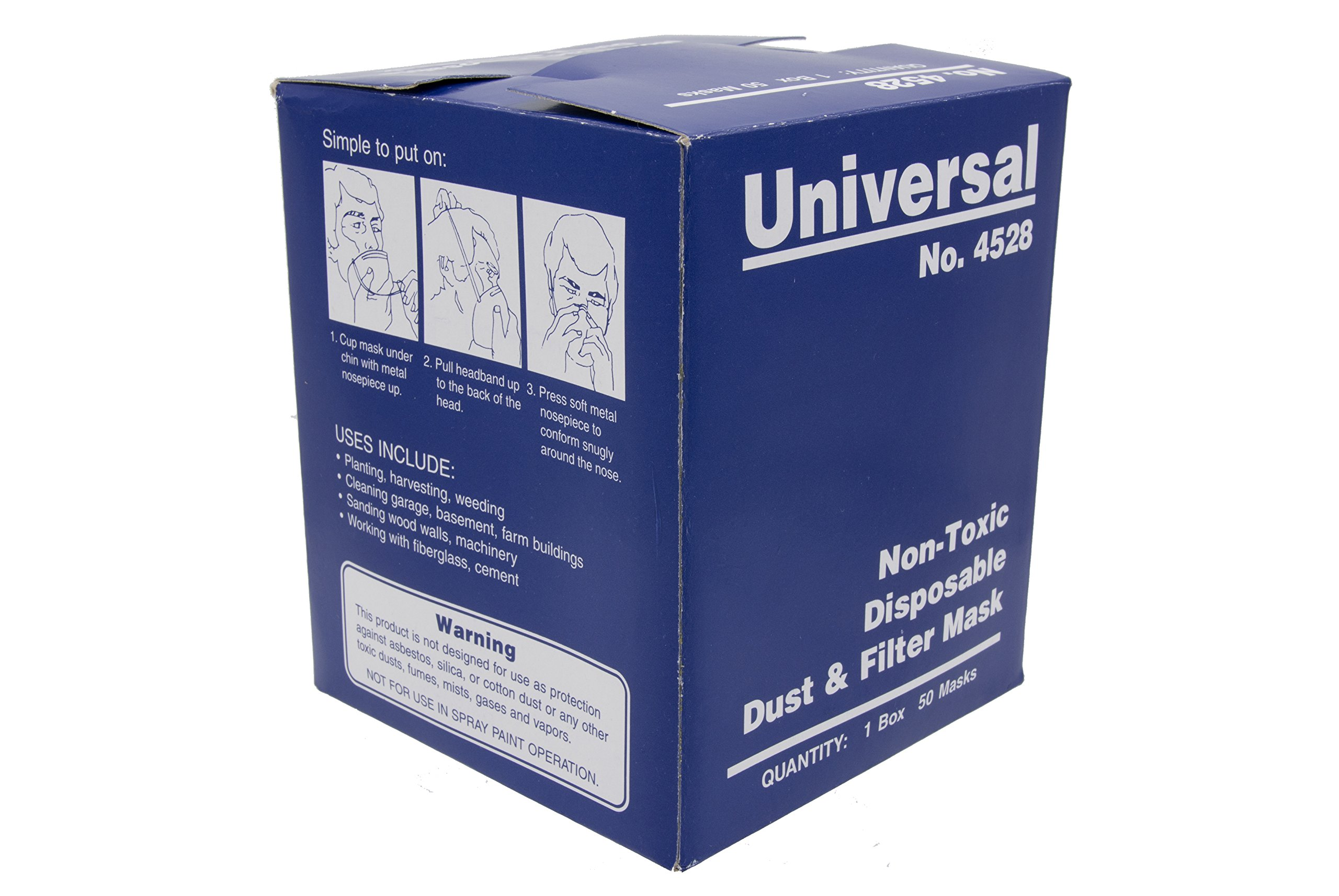 Universal 4528 Non-Toxic Disposable Dust & Filter Safety Masks 3