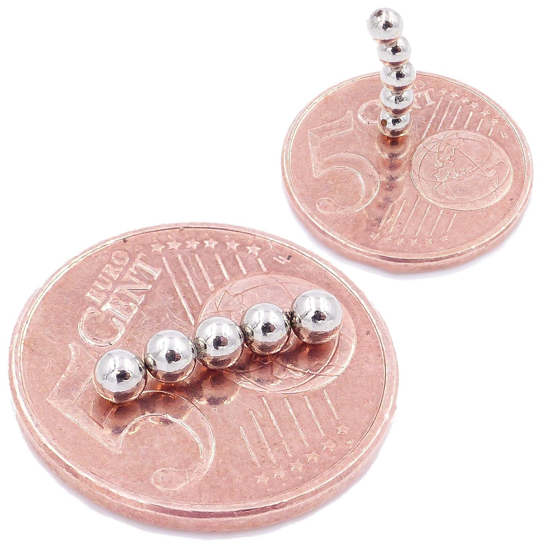 magneti in neodimio Ultra potenti lavagne magnetiche N38 magneti per modellismo Brudazon 10 Mini Magneti Sfera da 3mm Foto Piccoli ed Extra potenti