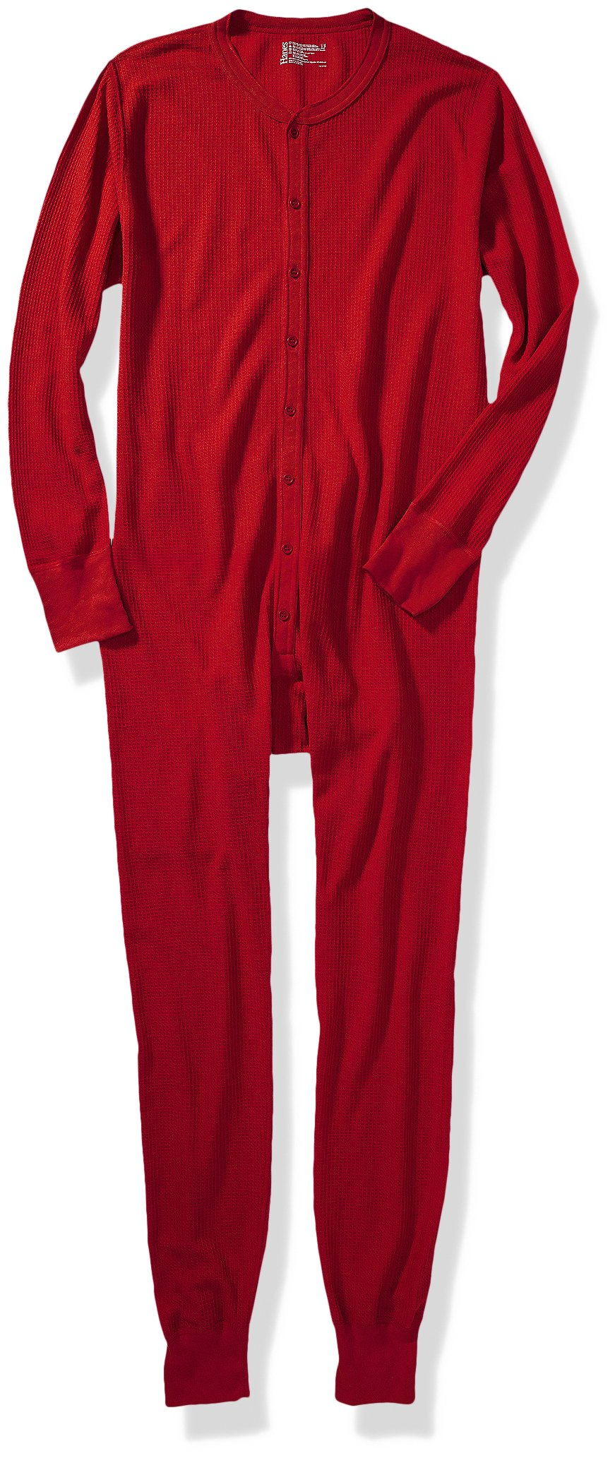 Hanes Men's Big X-Temp Thermal Union Suit, Red, Medium