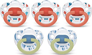 5-Pack NUK Orthodontic Pacifiers, 6-18 Months (Exclusive Edition)