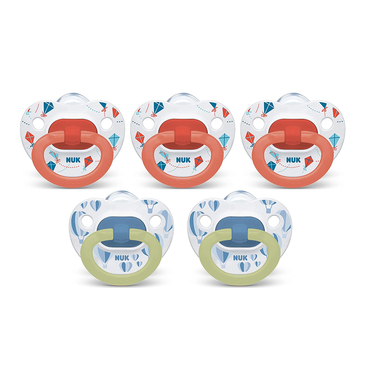 Amazon.com : NUK Orthodontic Pacifiers, 6-18 Months, 5-Pack ...