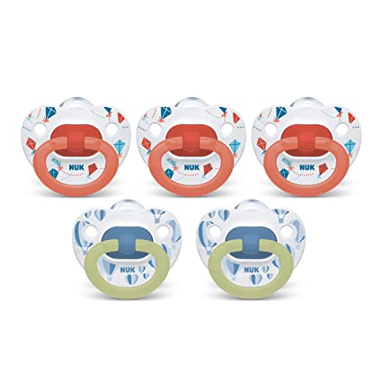 NUK Orthodontic Pacifiers, 6-18 Months, 5-Pack