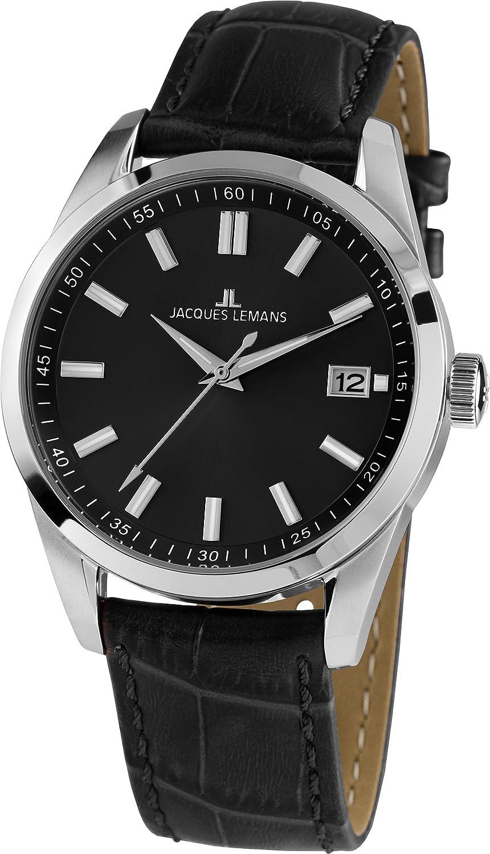 Jacques Lemans Reloj Analógico para Hombre de Cuarzo con Correa en Cuero 1-1868E