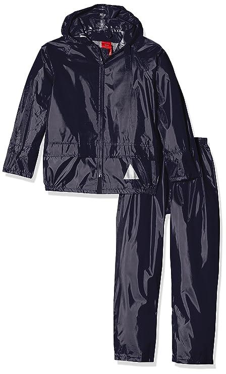 Result Traje con Chaqueta y pantalón Impermeable para niños ...