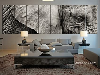 extra large wall art Amazon.com: 8 Panel Extra Large Elephant Canvas Print, Large Wild  extra large wall art