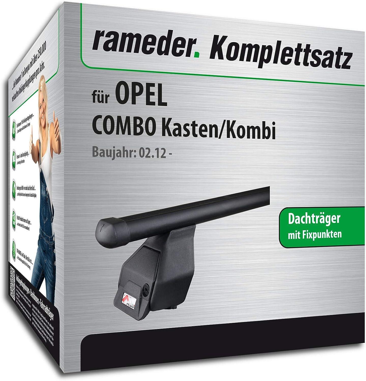118848-10000-1 Rameder Komplettsatz Dachtr/äger Tema f/ür OPEL Combo Kasten//Kombi