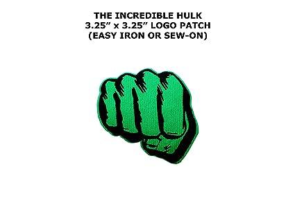 """Amazon.com: Avengers Hulk Puño 3.1"""" bordado, diseño de ..."""