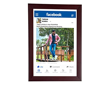 buy 8in x 12in personalised photo frames facebook frame with