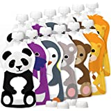 Squooshi Reusable Food Pouches   12 Pack 5 oz. Size   Baby Food or Toddler Kids Squeeze Pouch