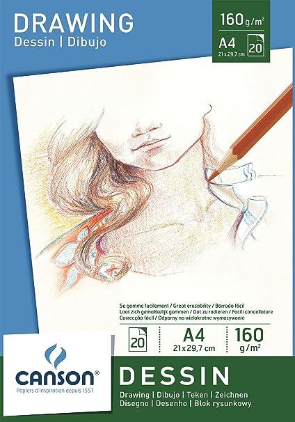 21 x 29.7 cm Canson Bloc de Dibujo A4