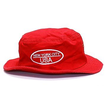 e89cea3546b Amazon.com  City Hunter Bd1140 Cotton Design Bucket Hat - Usa Oval Felt  (Red- L xl Size)  Everything Else
