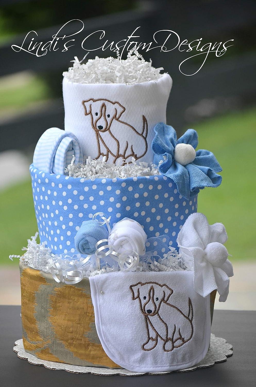 Amazon Boy Diaper Cake Puppy Dog Theme Handmade