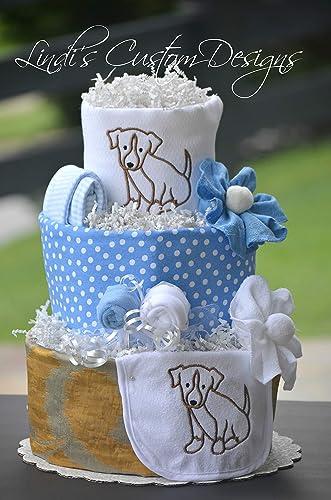 Boy Diaper Cake Puppy Dog Theme