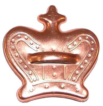 Vintage Mirro de cobre de aluminio anodizado Corona de rey molde para galletas: Amazon.es: Hogar