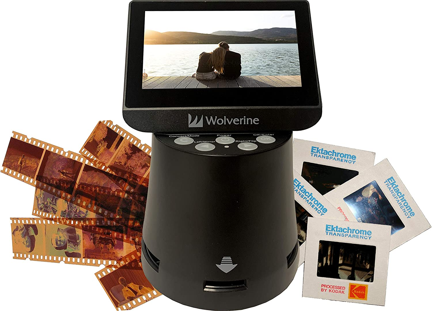 """Wolverine Titan 8-in-1 High Resolution Film to Digital Converter with 4.3"""" Screen and HDMI Output (Black)"""