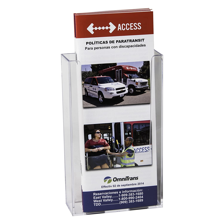 clear ad lhw m141 acrylic wall mount brochure
