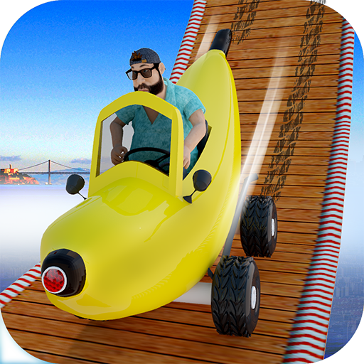 (Funny Banana Car Racing: Stunt Extreme Car Top Free Games for Kids )