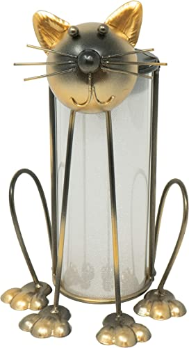 Moonrays 96347 Cat Garden Lantern, Bronze