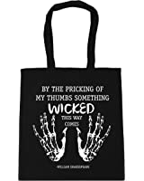 HippoWarehouse By the pricking of my thumbs something wicked this way comes Tote Shopping Gym Beach Bag 42cm x38cm, 10 litres