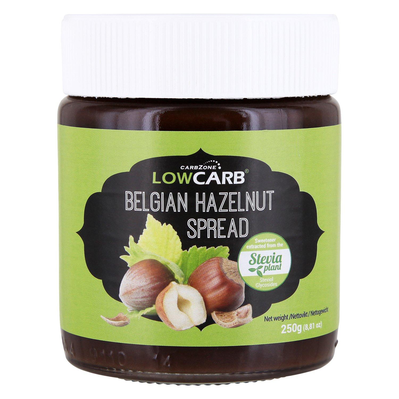 Carbzone Crema de Avellanas Belga Baja en Carbohidratos - 250 gr (Paquete de 2): Amazon.es: Alimentación y bebidas