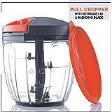Artikel Manual Chopper & Blender with Storage Lid   Chops Vegetables, Nuts & Fruits   Blends Flour   Egg Beater   Meat Mincer   Large - 900 ml