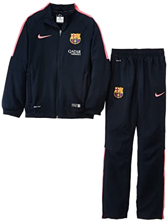 Nike FC Barcelona SQUAD Sideline WOVEN Football Tracksuit Child Blue Bleu  marine/rose Size: