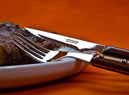 Arcos 377700 - Juego de cuchillo chuletero y tenedor, 110 mm (12pzs)