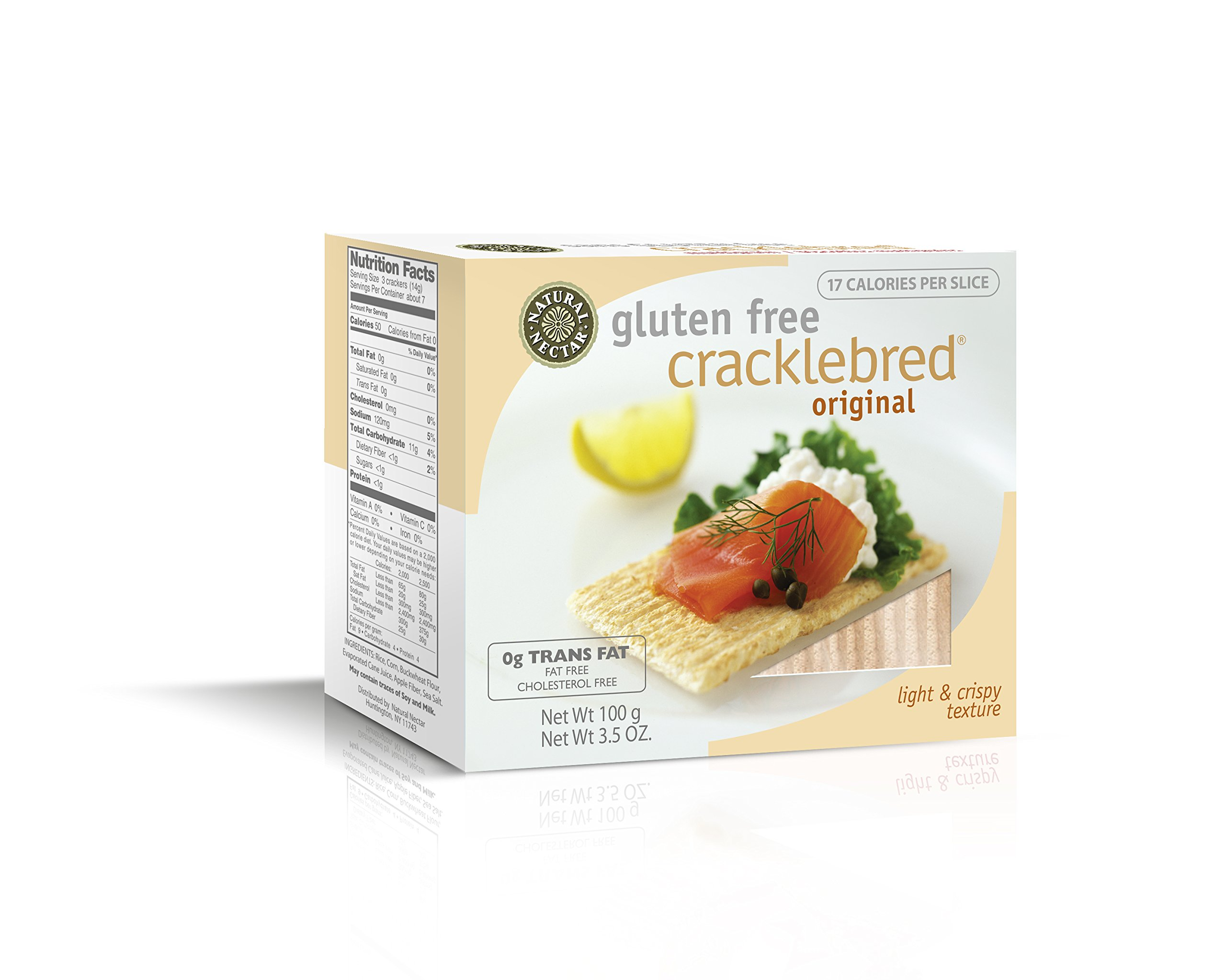 Natural Nectar Gluten Free Cracklebred, Original, 3.5-Ounce Boxes (Pack of 12) by Natural Nectar