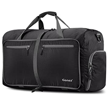 Gonex 80L Foldable Sport Duffels Travel Bag Large Holdall Packable Gym Lightweight Waterproof