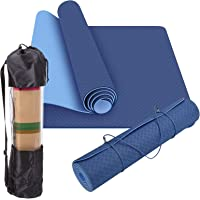 DoBetter TPE Yoga Mat Exercise Fitness Eco Friendly Non Slip Dual Layer +Carry Bag