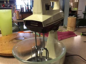 Vintage Sunbeam 12 Speed Mixmaster in Glorious 1970s Tan and Brown