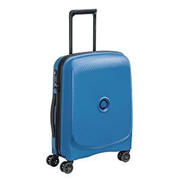 Valise cabine rigide Delsey Belmont Slim 55 cm Bleu métallique 63io69