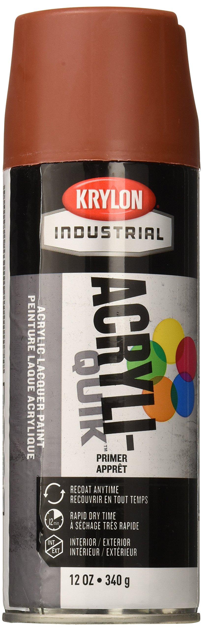 Krylon K01317A00 Primer Five Ball Industrial Spray Paint, 12 oz, Ruddy Brown (Pack of 6)