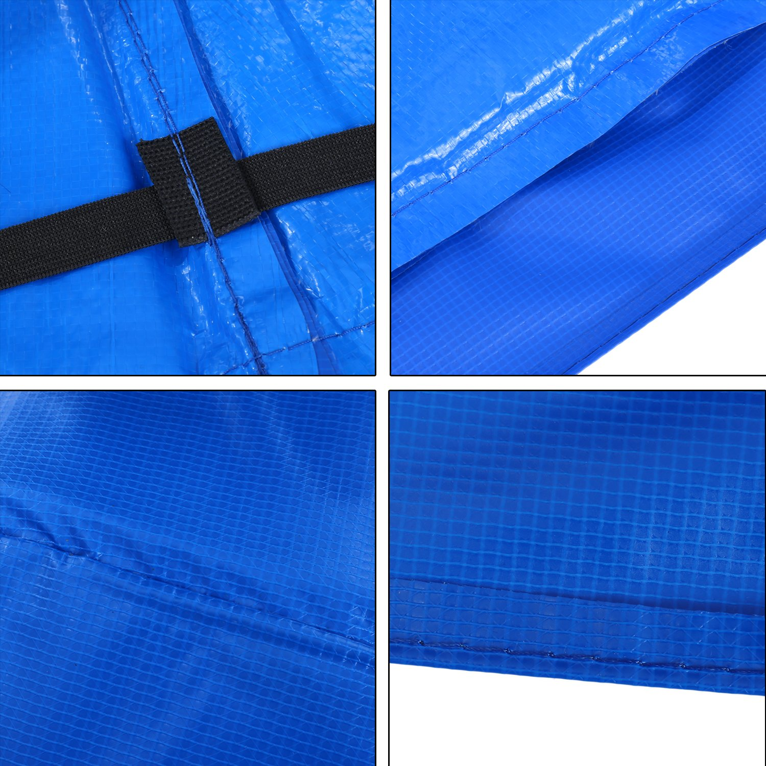 15 14 12 10 Ft Replacement Trampoline Surround PVC Pad Foam Safety Spring Cover Padding Pads (Blue, 15 Ft) by Zafuar Sports (Image #3)