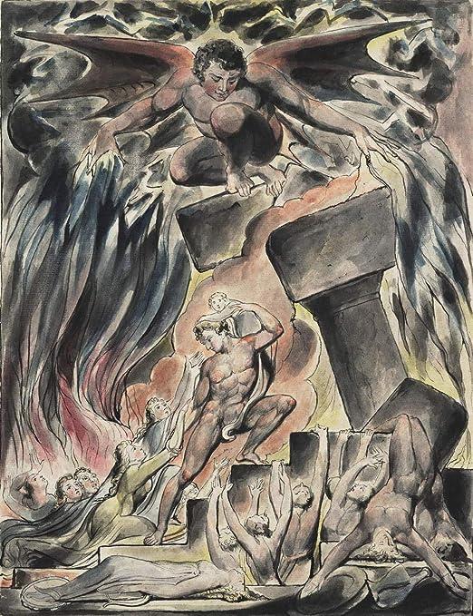 Satan William Blake Engravings Fine Art Print