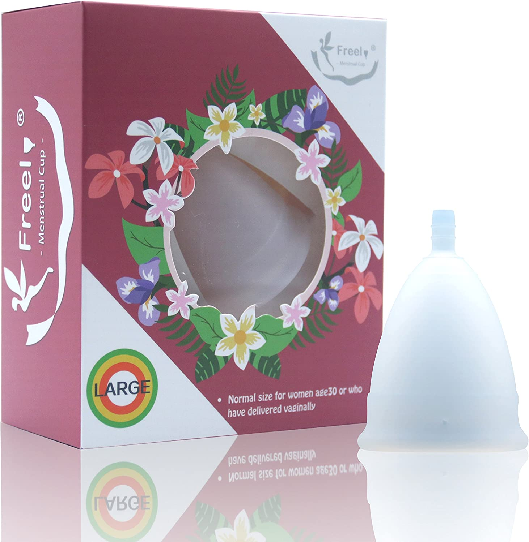 Freel - Copa menstrual de silicona de grado médico, Large ...