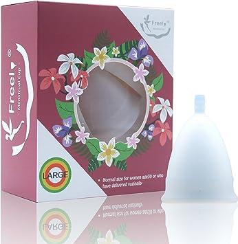 Freel - Copa menstrual de silicona de grado médico, Large, Original, 1: Amazon.es: Salud y cuidado personal