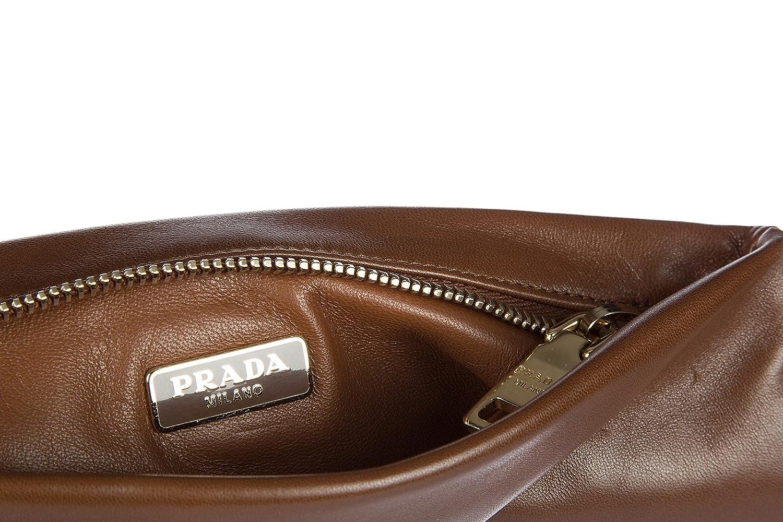 Prada cartera billetera de mujer en piel nuevo marrón: Amazon.es: Zapatos y complementos