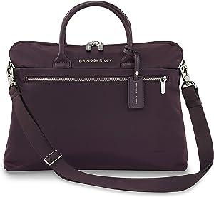 Briggs & Riley Rhapsody-Slim Business Laptop Shoulder Bag, Plum, One Size