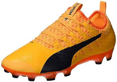 c6aa12742f1a PUMA Men's Evopower Vigor 1 AG Football Boots, Orange (Ultra Yellow-Peacoat-