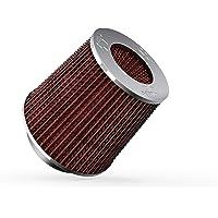 K&N RG-1001RD universele luchtfilter voor auto's en motorfietsen, chroom