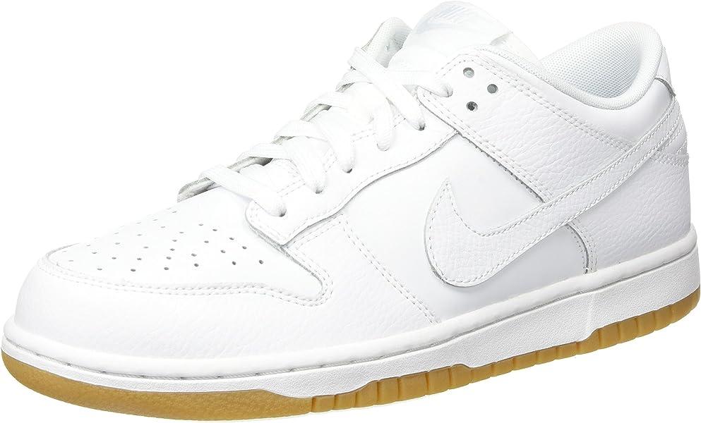 promo code cc258 086c4 Nike Wmns Dunk Low, Zapatillas de Gimnasia para Mujer, Blanco White Pure  Platinum