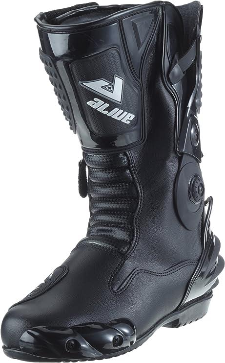 en cuir respirant de qualit/é professionnelle course Biesse Bottes de moto mod/èle pour sport piste noir//rouge homologu/ées CE 39 noir//rouge