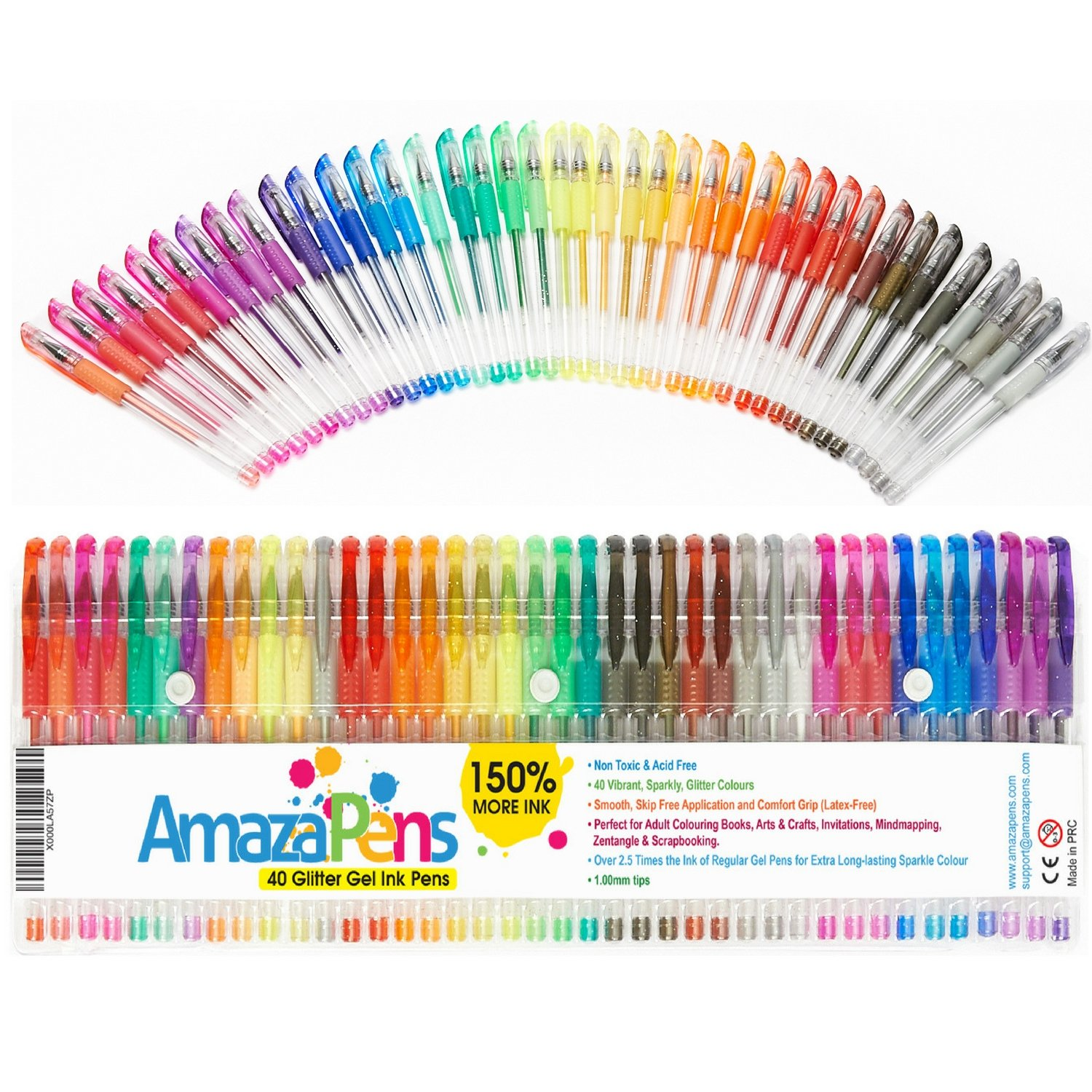 AmazaPens Gel Colouring Pens